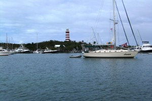 From our mooring in Hopetown Harbor